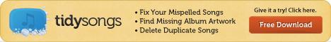TidySongs - Add Album Art, Remove iTunes Duplicates, Fix Misspellings