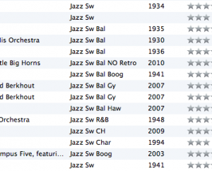 How A Swing DJ Organize Music in iTunes   Shuffle Projects