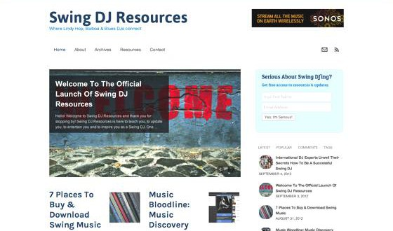 Swing DJ Resources Launched